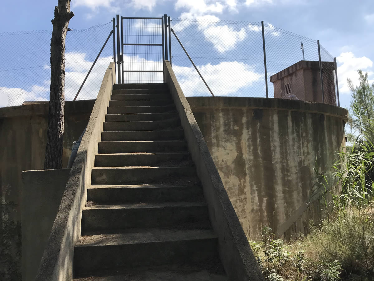 Empiezan las obras del proyecto ejecutivo de mejora del depósito principal de agua potable del municipio de Olivella
